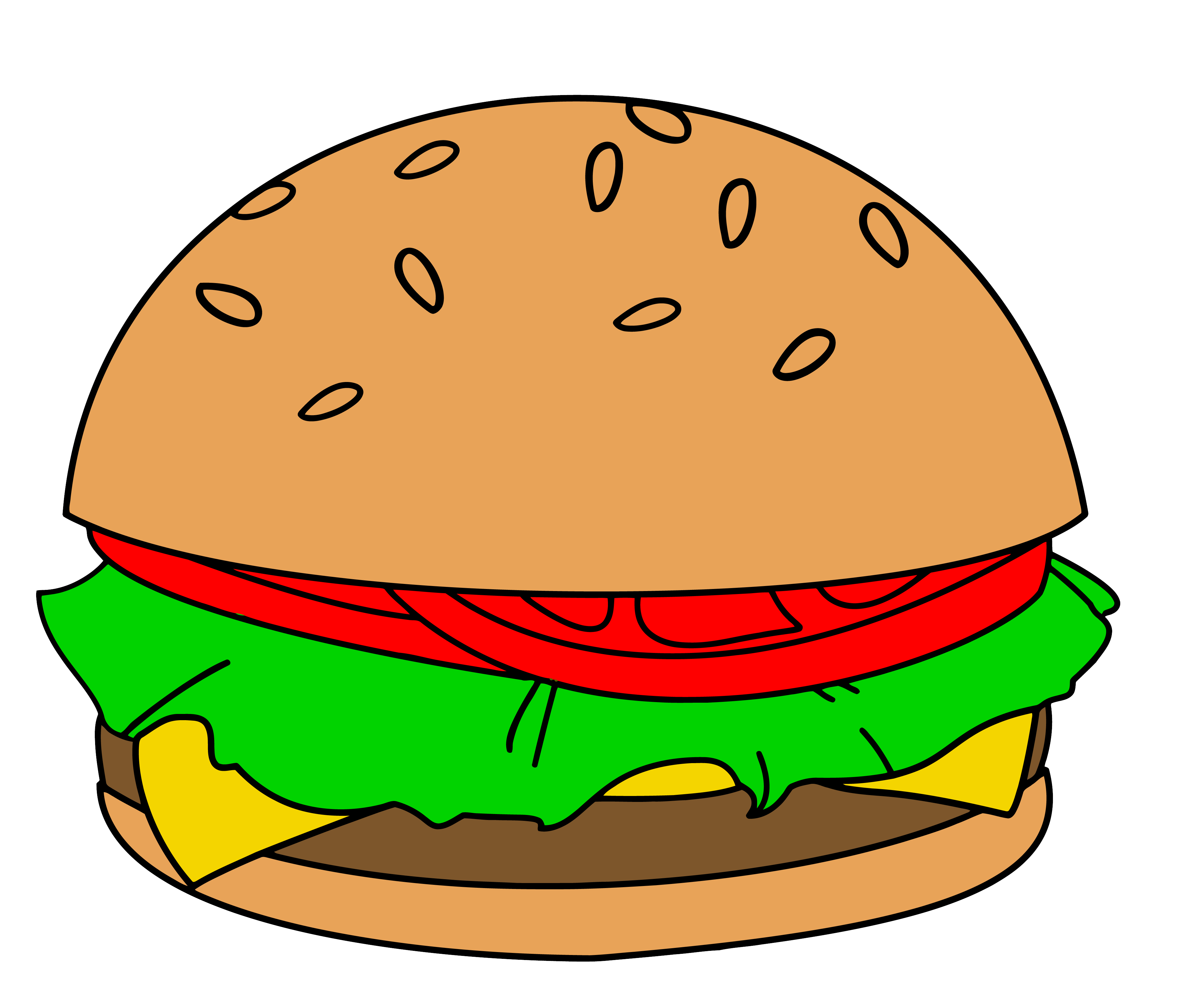 Chicken Burger Clipart Free Clip Art Images