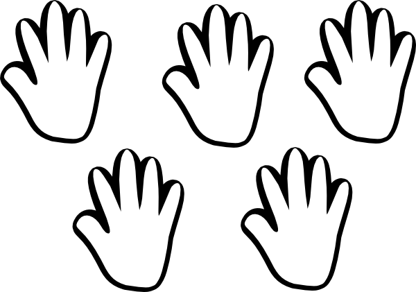 Children Handprint Outline Free Clipart Images