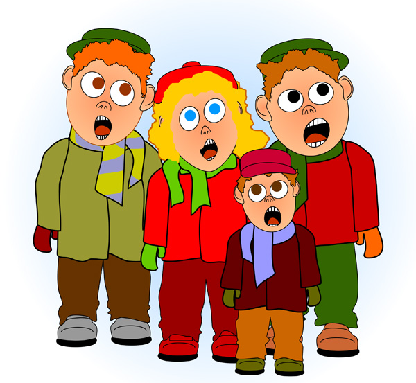 Children Singing Free Clip Art