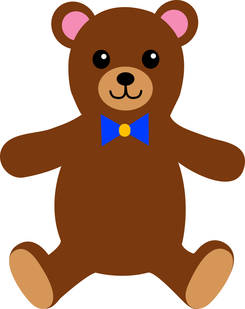 Childrens Stuffed Teddy Bear Free Clip Art
