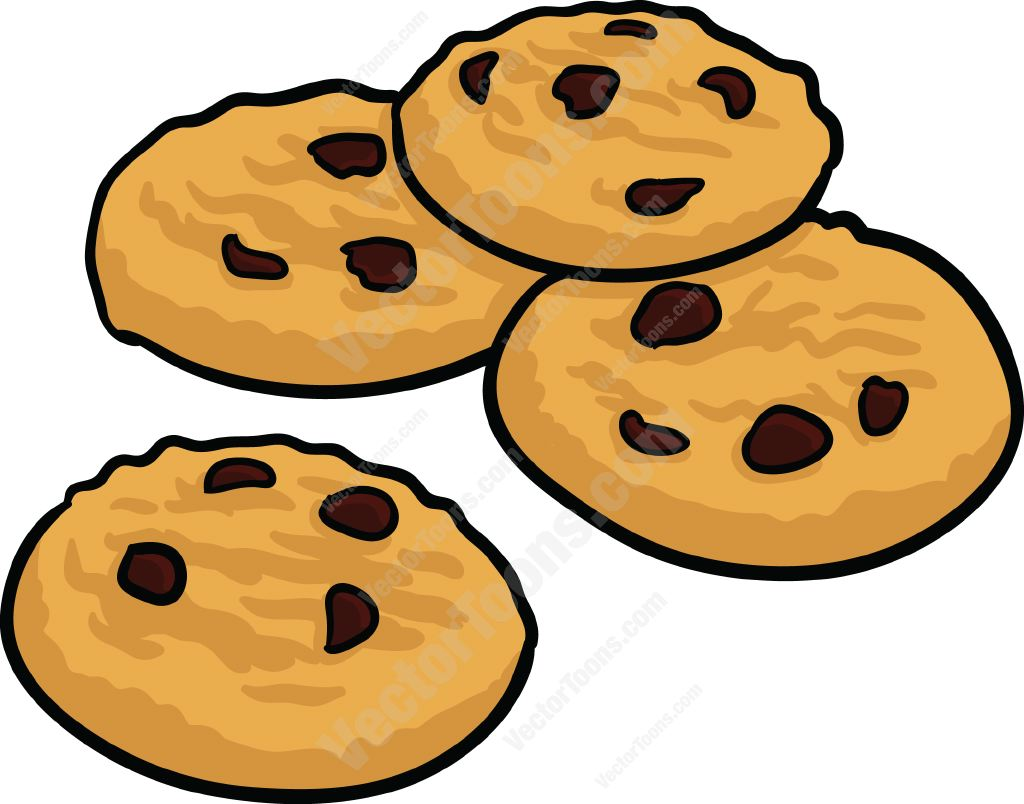 Chocolate Chip Cookies On A Plate Free Clipart