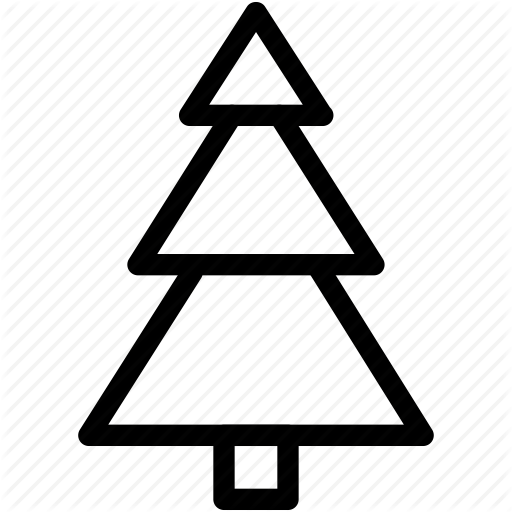 Christmas Tree Creative Decoration Grid Line