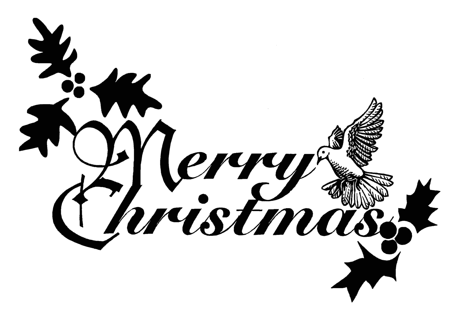 Christmas Clip Art Black And White Free Clipart