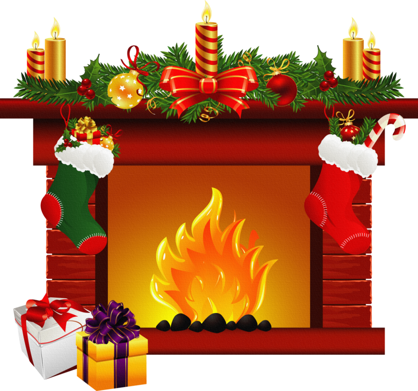 Christmas Clipart Christmas Fireplace Png