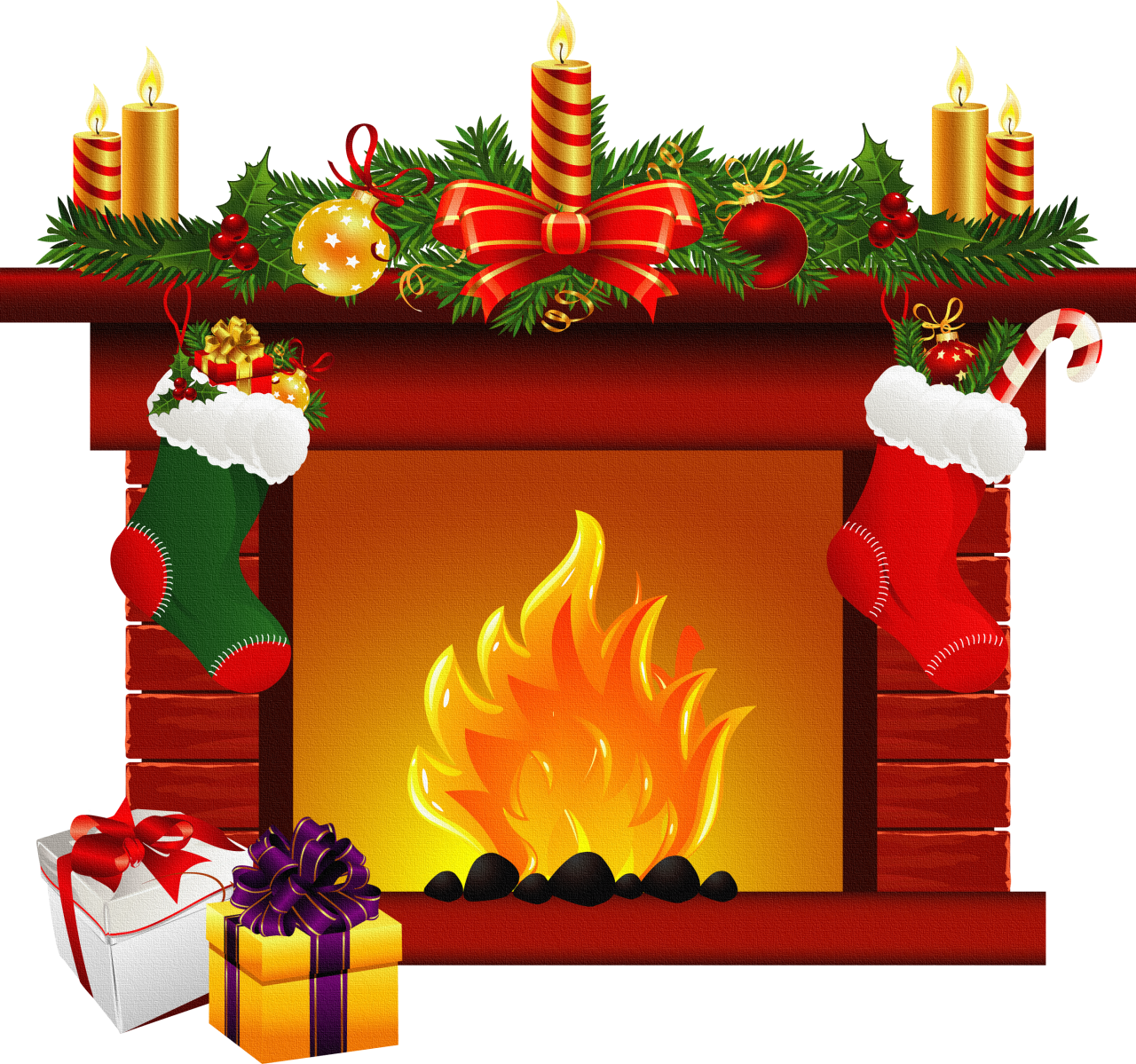 Best fireplace clipart clipartion