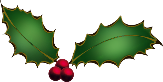 Christmas Holly Clip Art Borders Free Clipart Images