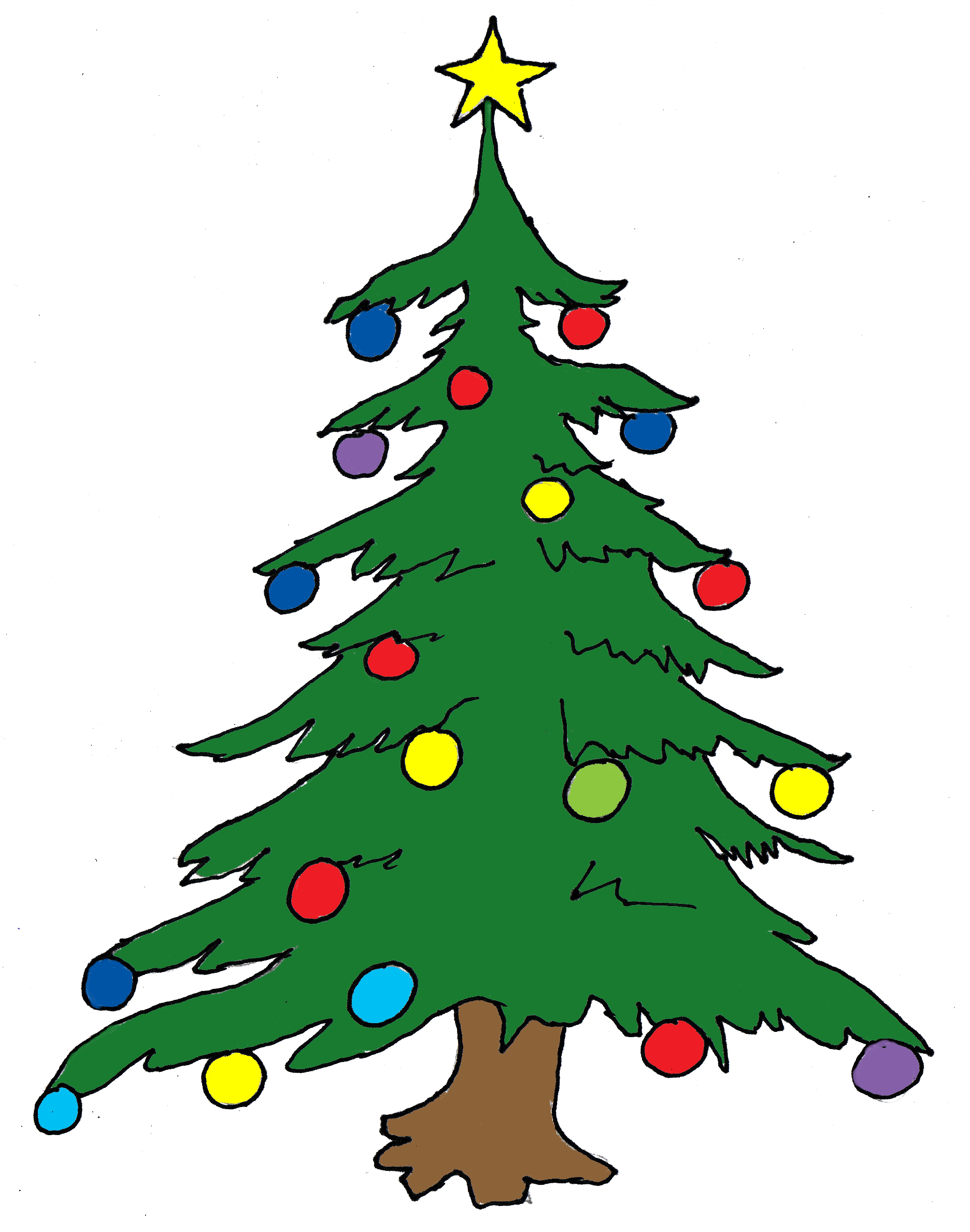 Christmas Tree Clip Art Free Free Clipart Images