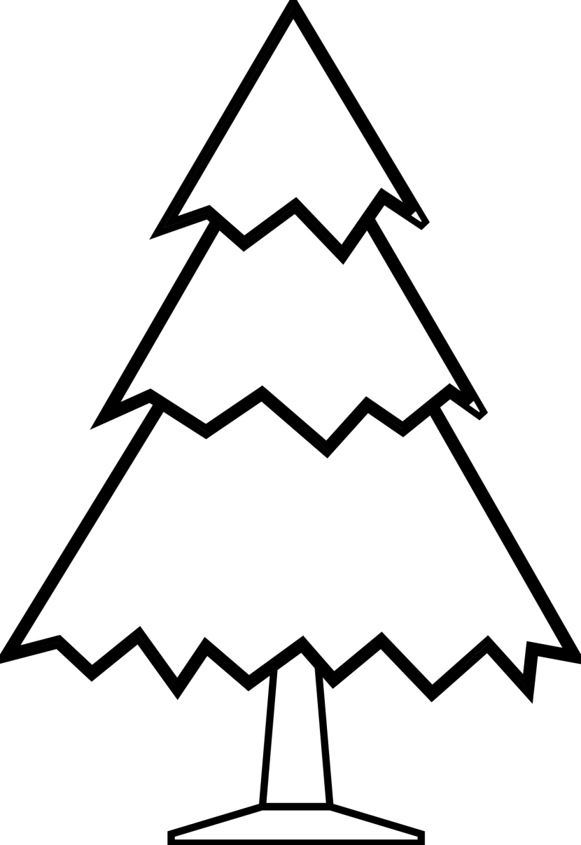 Christmas Tree Clipart Black And White Free