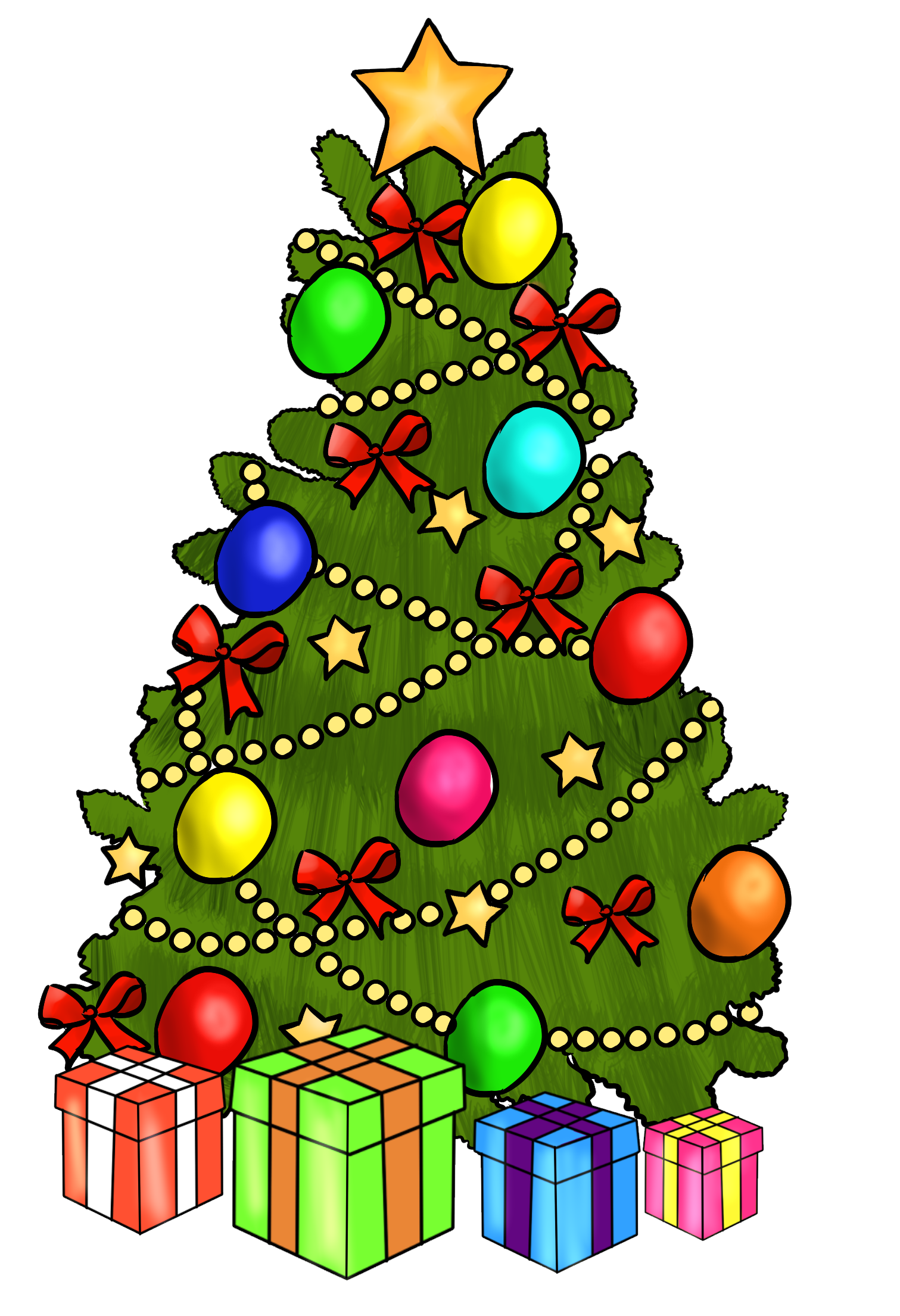 Christmas Tree Clipart Myfreetutorials