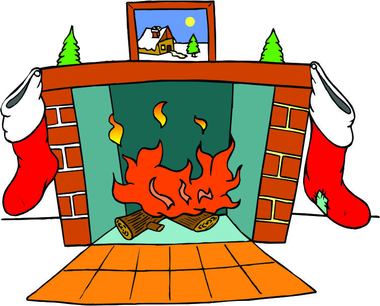 Christmas Tree Fireplace Clipart Free Clip Art Images