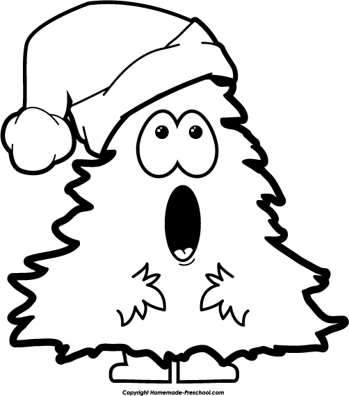 Christmas Tree Man Sing Bw Png