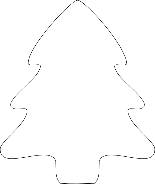 Christmas Tree Outline Clip Art At Vector Clip Art