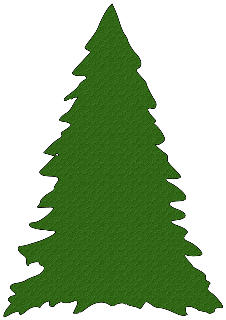 Christmas Tree Outline Clipart Free Clipart