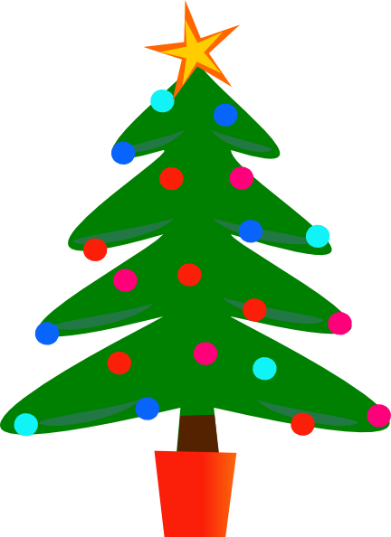 Christmas Tree Star Clipart Free Clipart Images