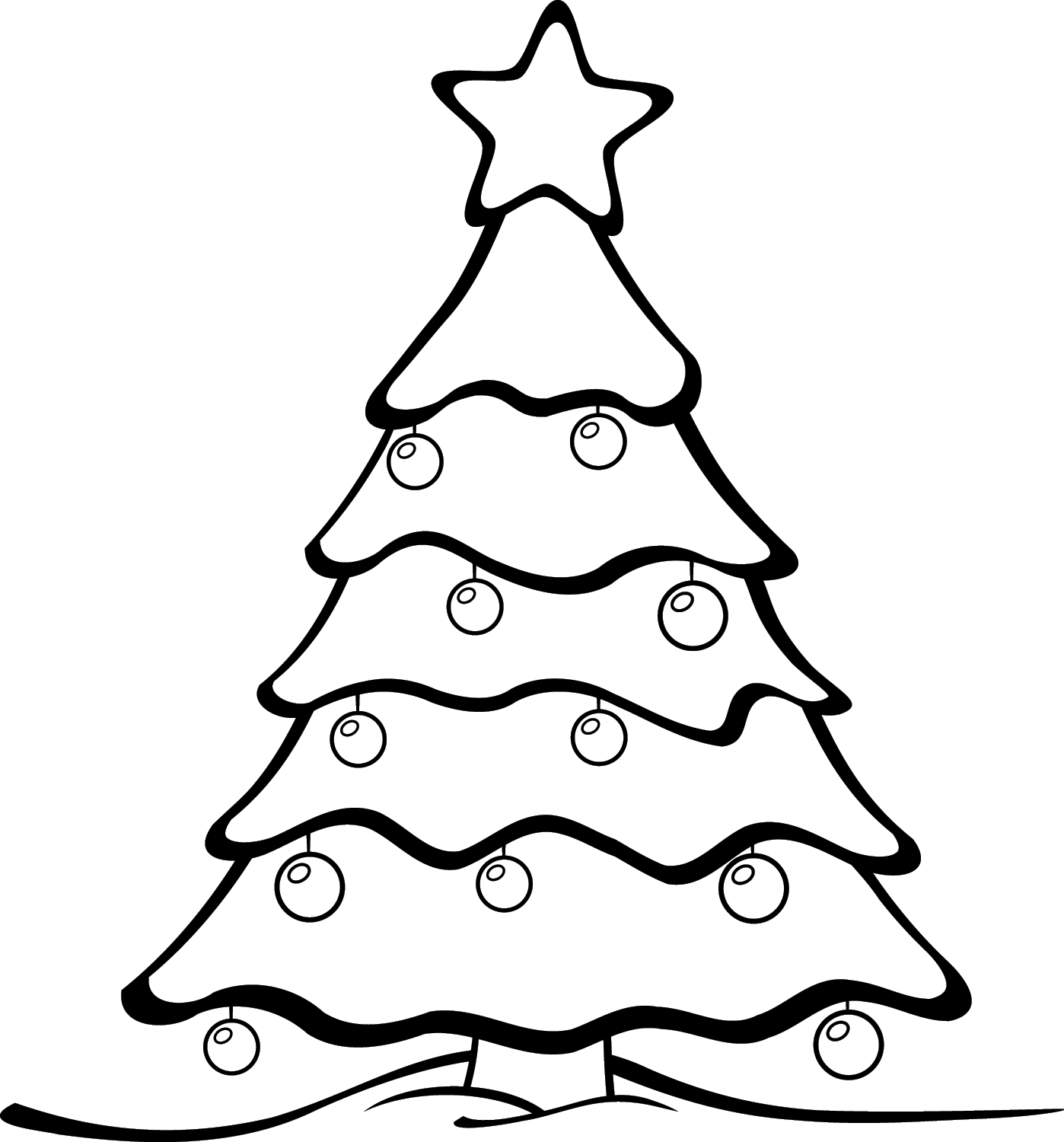 Christmas Tree Outline.Best Christmas Tree Outline 7011 Clipartion Com