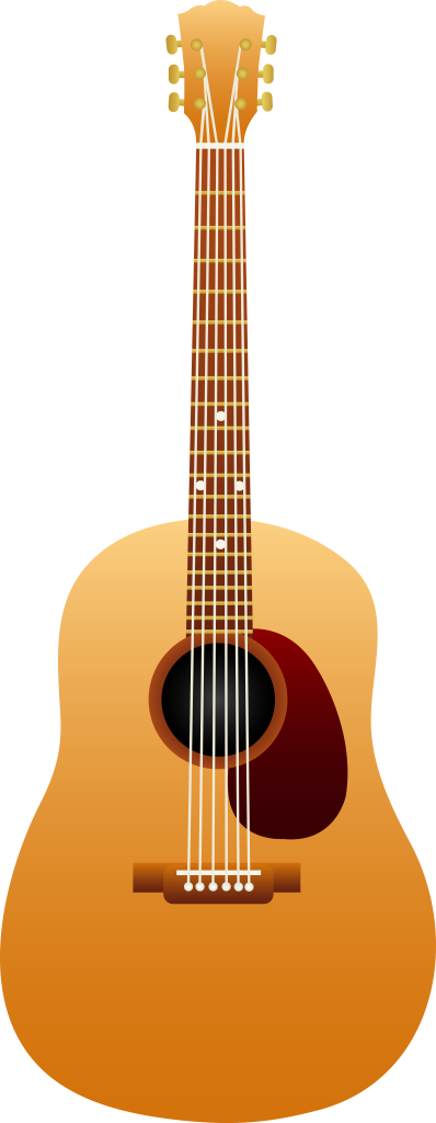 Classical Acoustic Wooden Guitar Free Clip Art
