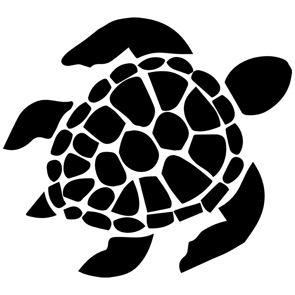 Best Turtle Clipart Black And White #12968 - Clipartion.com