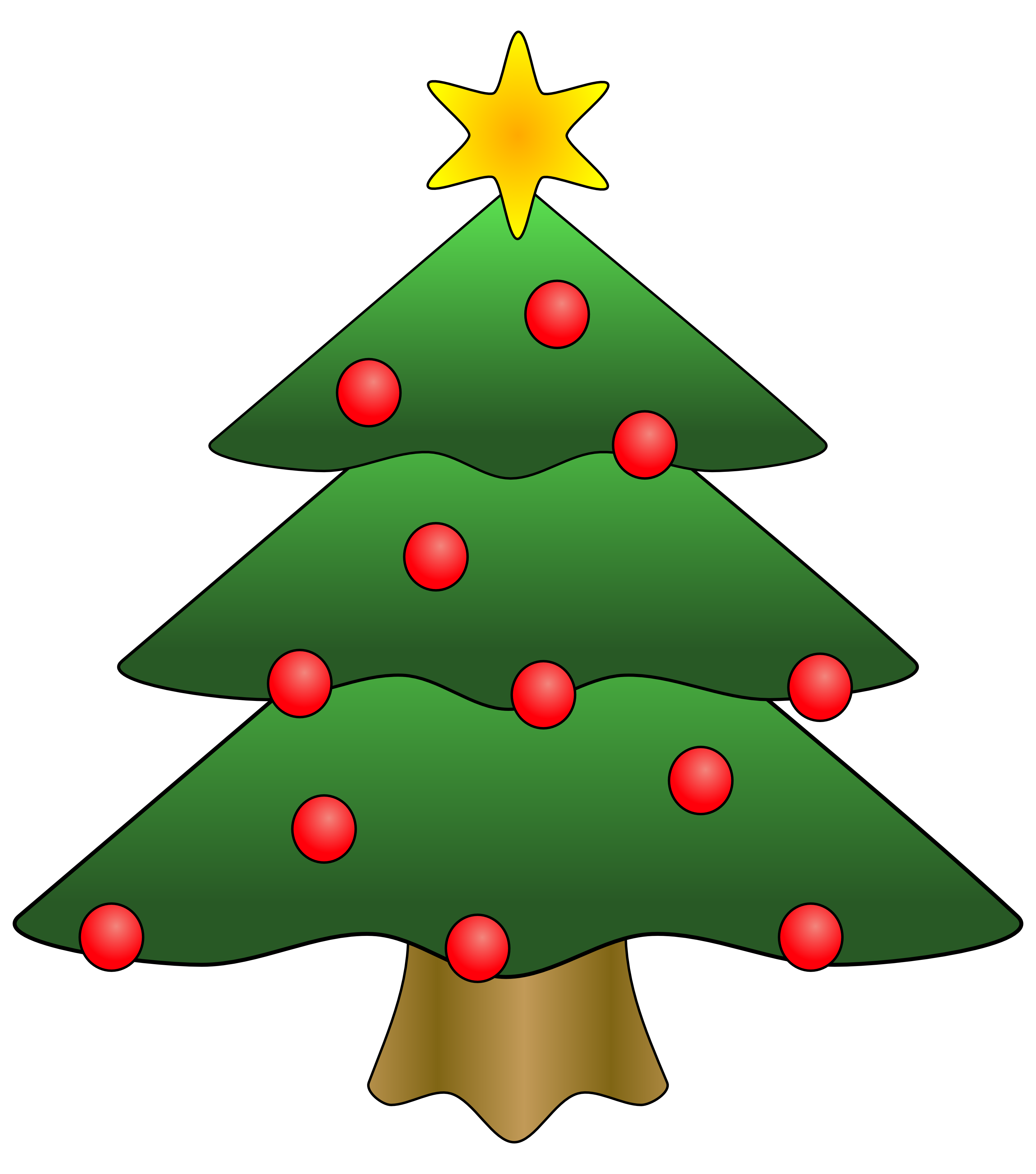 Best christmas tree clip art 11434 for Christmas images paintings