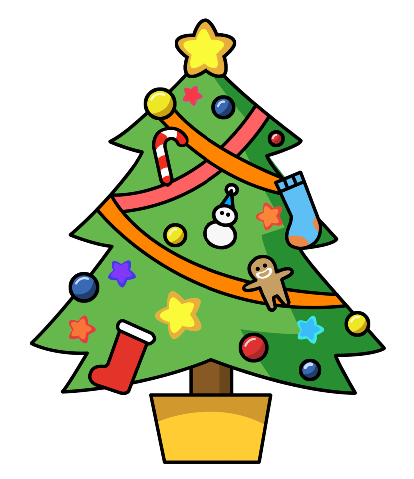 Clip Art Christmas Tree Outline Free Clipart Images