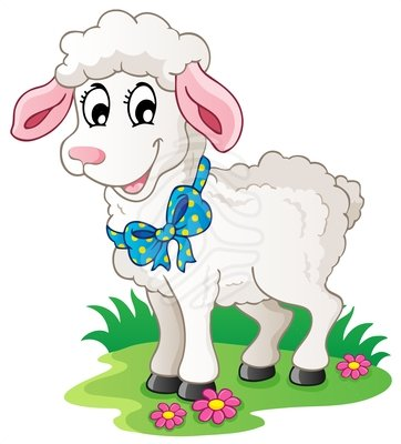 Clip Art Cute Cartoon Lamb Free Clipart Images