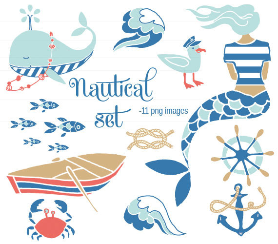 Clip Art Nautical Set For Commercial And Personalikakudo