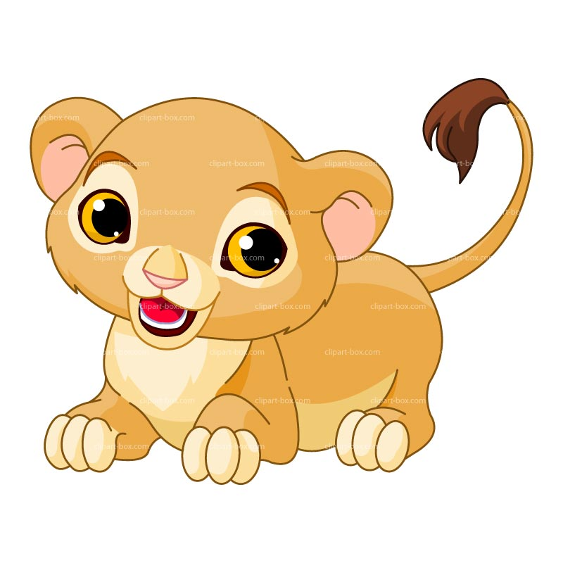 Clipart Baby Lion Playing Royalty Free Vector Design