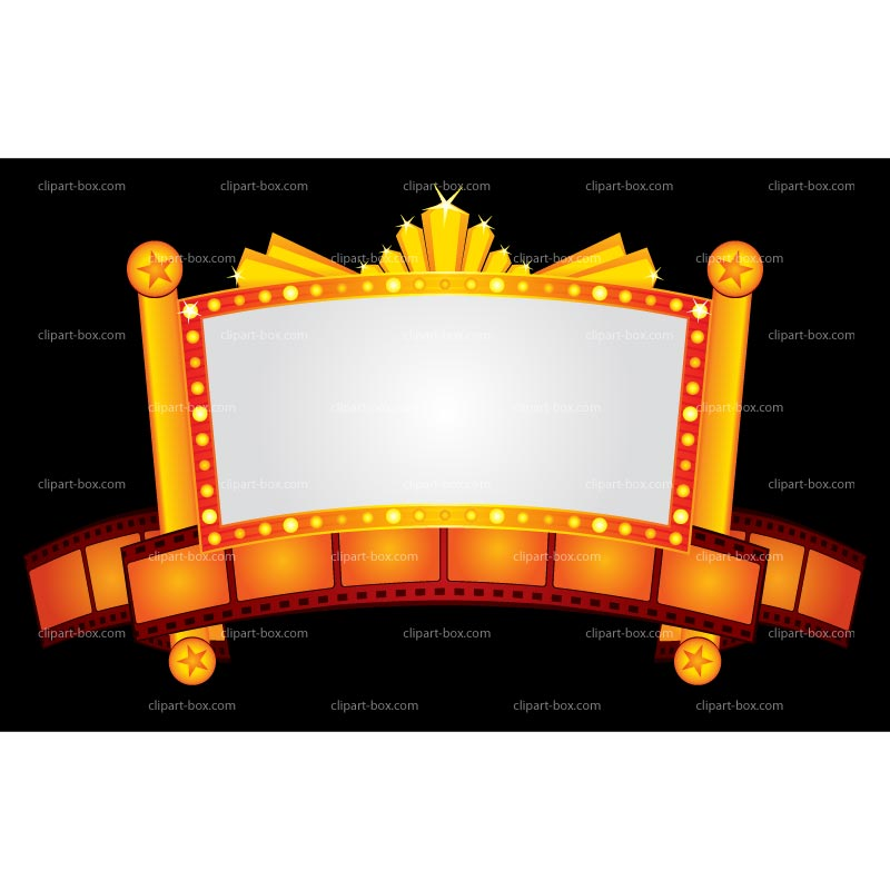 Broadway Lights Border Clipart Movie Theater Clipart ...