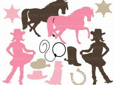Clipart Cowgirl Silhouettes Meylah