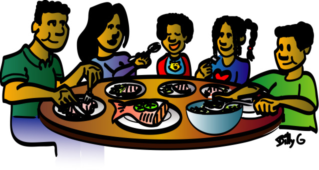 Clipart Family Dinner Free Clipart Images