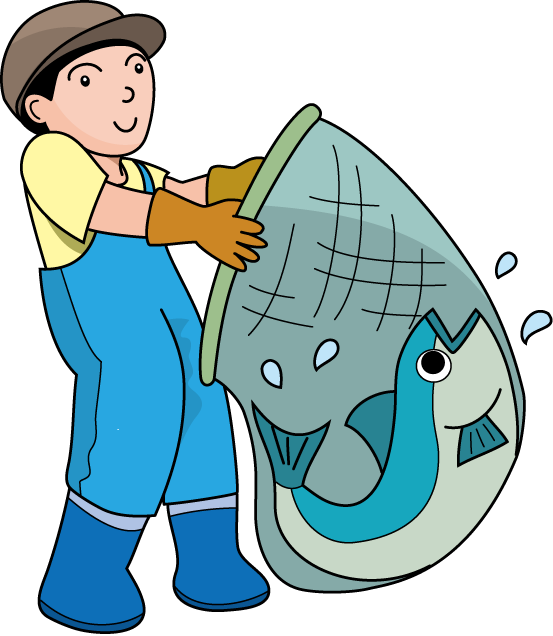 Clipart Fish In A Net