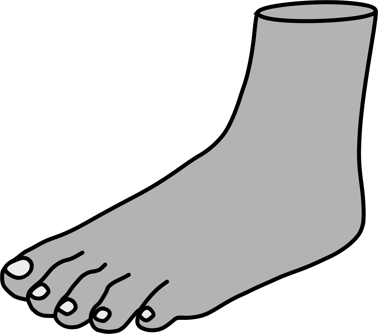 Clipart Foot