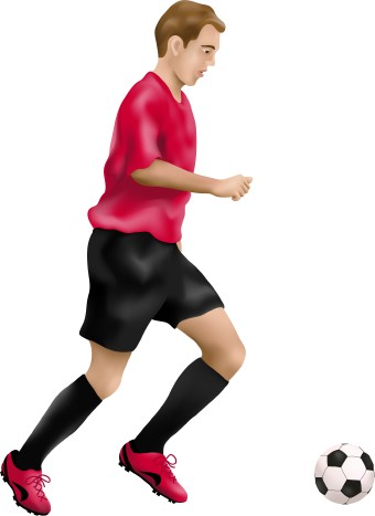 Clipart Football Player Kicking Free Clipart Images
