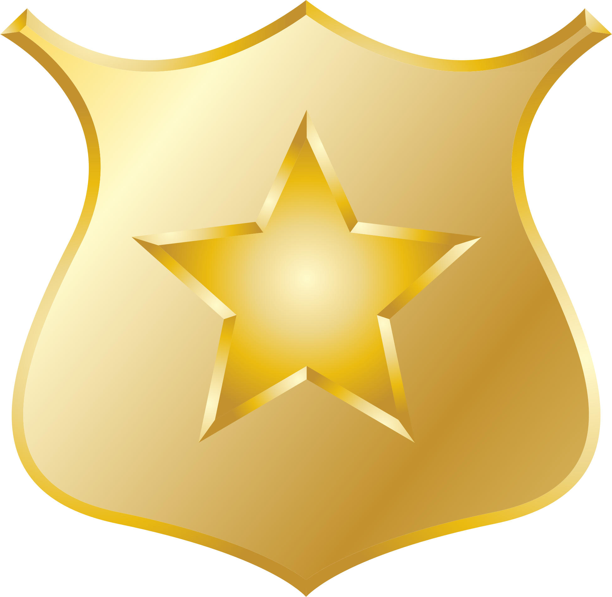 Clipart Gold Police Badge