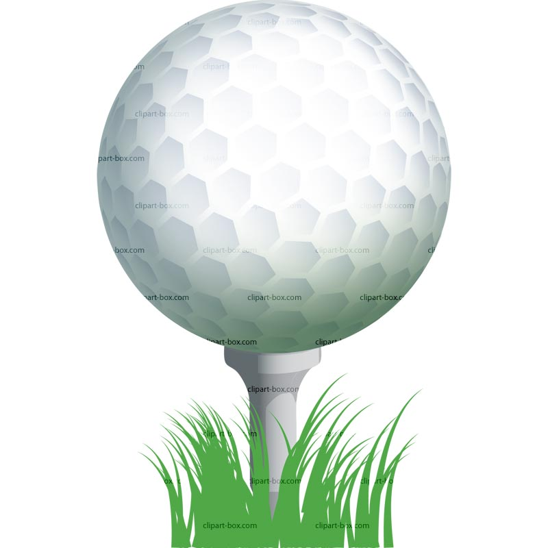 Clipart Golf Ball On Tee Royalty Free Vector Design One Golf