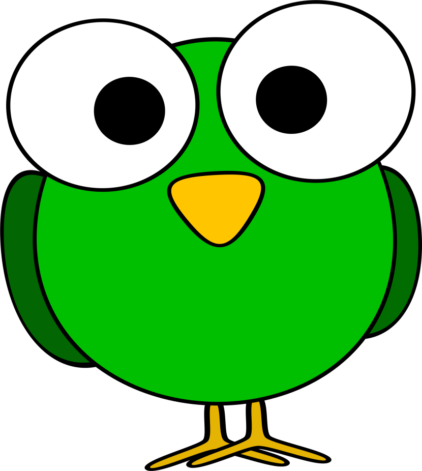 Clipart Green Googly Eye Bird