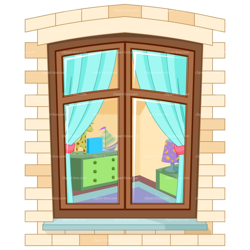 Clipart House Window Royalty Free Vector Design