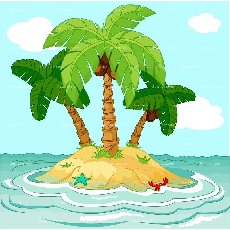 Clipart Island Royalty Free Vector Design