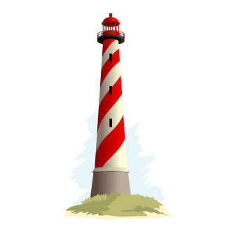 Clipart Lighthouse Royalty Free Vector Design