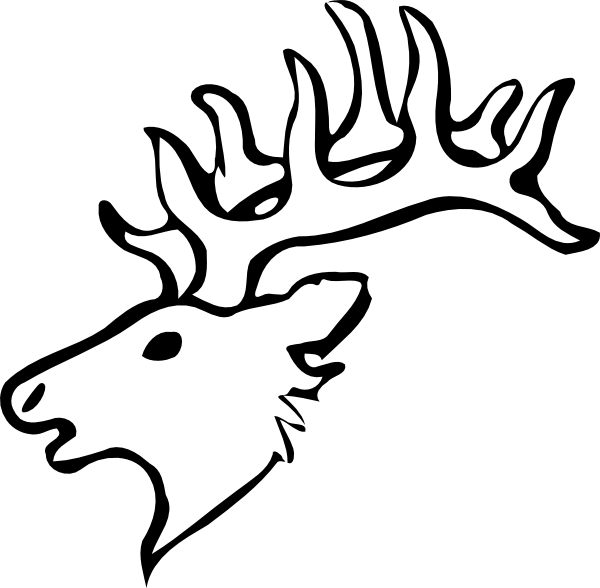 Clipart Of A Deer Skull