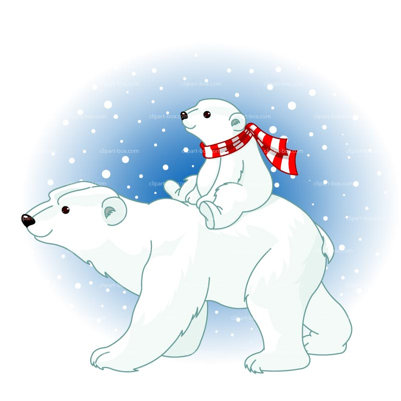 Clipart Polar Bears Royalty Free Vector Design