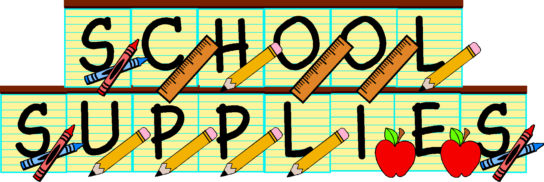 Clipart School Supplies