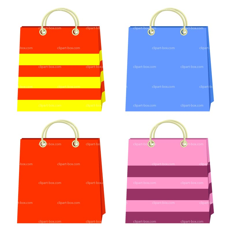 Clipart Shopping Bags Royalty Free Vector Design