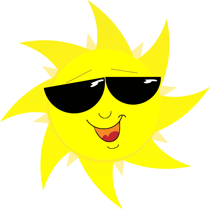 Clipart Smiling Sun With Sunglasses