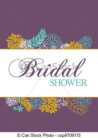 Clipart Vector Of Bridal Shower Card Bridal Shower Card With