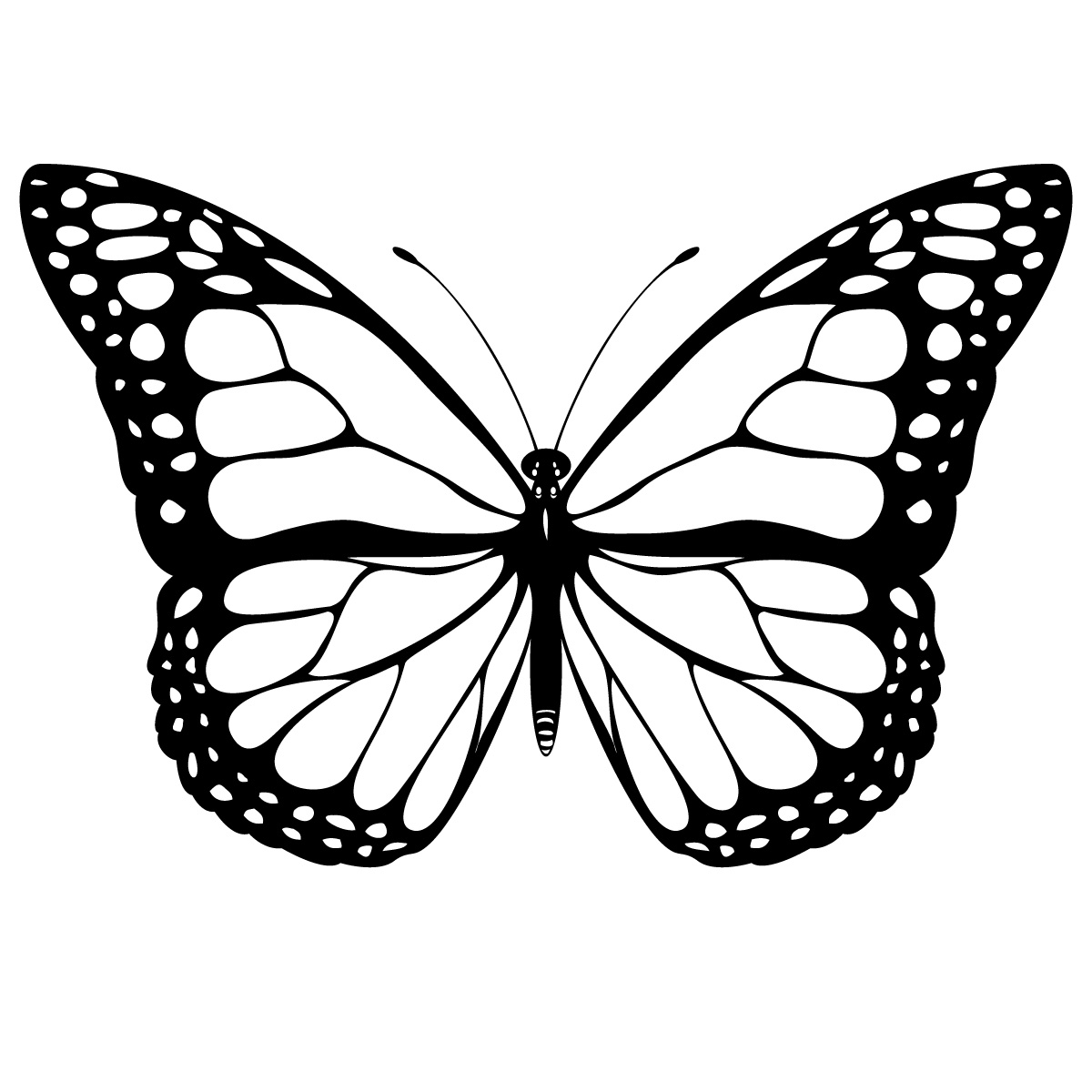 Cliparti1 Butterfly Clipart Black And White
