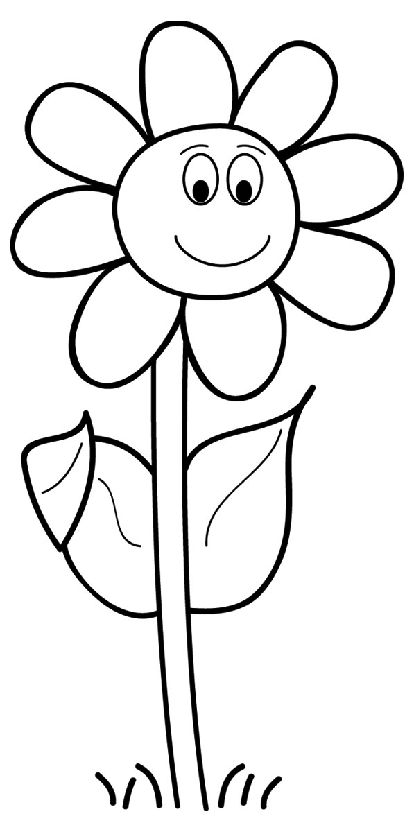 Cliparti1 Flower Clipart Black And White