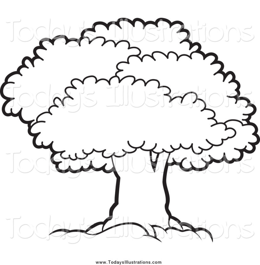 Cliparti1 Tree Clipart Black And White