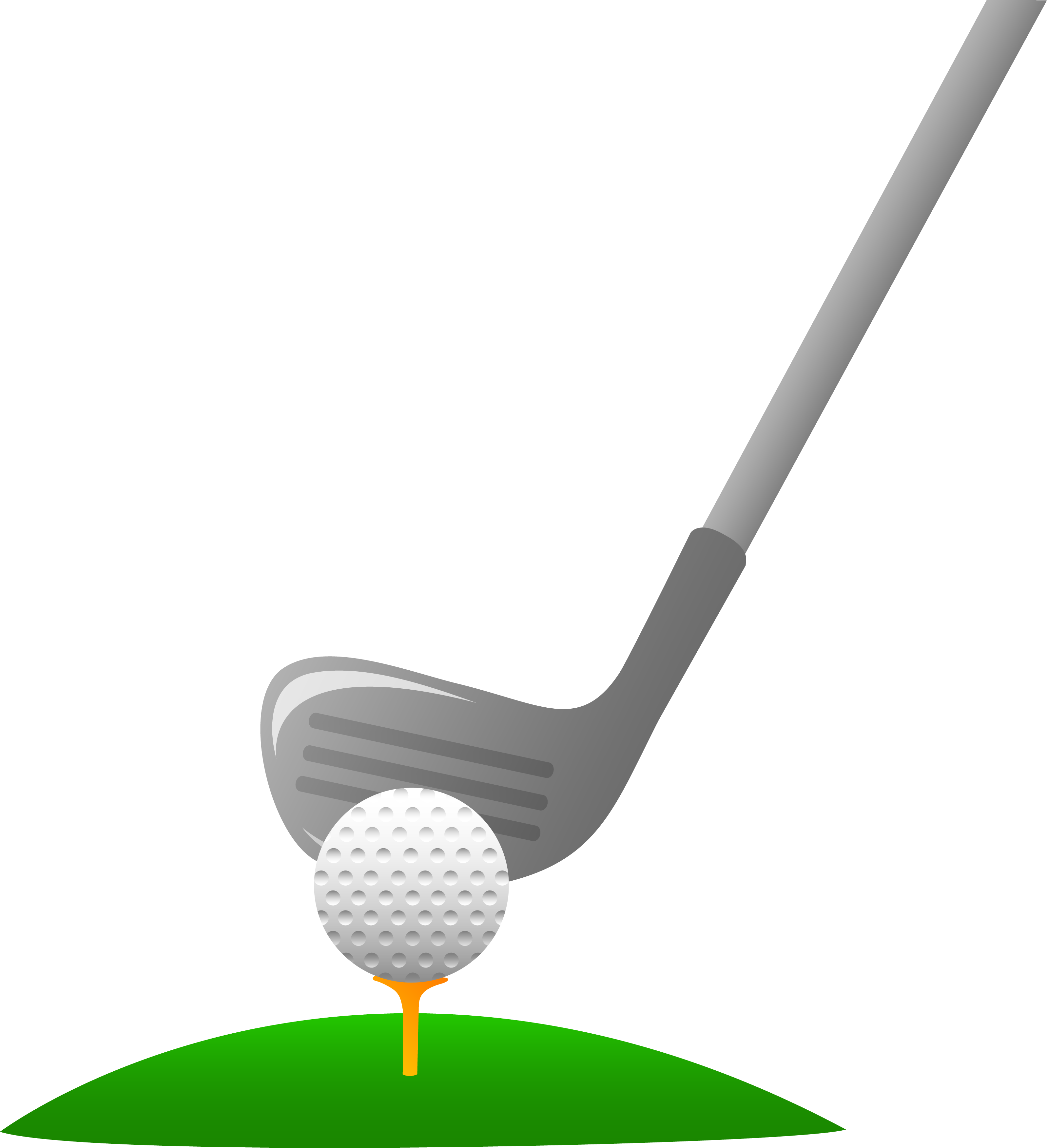 Closeup Of Golf Ball And Club Clipart Free Clip Art Images