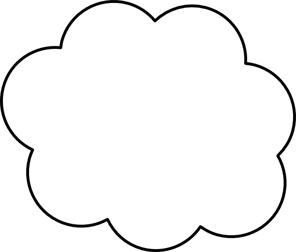 Cloud Outline Clip Art At Vector Clip Art Online