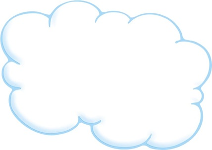 Cloud With Blue Outline 2 Scholastic Printables